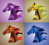 Geometrical Horse Head Set