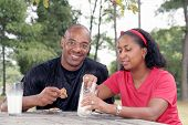 Black Couple Outdoors poster