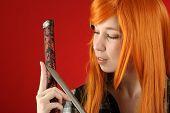 Girl With Katana Sword