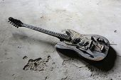 burnt guitar