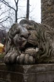 Sad Lion Sculpture