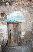 door in a cave
