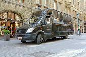 UPS Delivery Truck In Helsinki, Finland