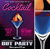 Poster Template For The Cocktail Party