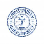 Christianity grunge rubber stamp