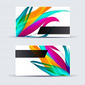 Abstract template card for business artwork .