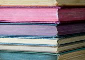 Stack Of Old, Colorful Books