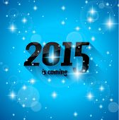 Modern Style 2015 New Year is coming background with blend shadow. Ready to copy and paste on every