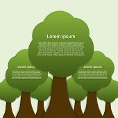 Infographic Of Ecology. Concept Design With Tree