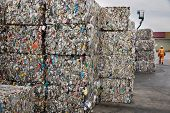 Cubes of recyled cans
