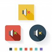 Mute Flat Icon Design