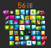 Mega collection of light shiny layout abstract templates. 56 vector illustrations