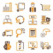 shipping management icons