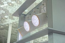 stock photo of roof-light  -  LED Light on mall roof - JPG