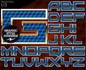 Shiny font of gold and diamond vector illustration.Techno. File contains graphic styles available in Illustrator