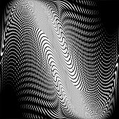 Design Monochrome Wave Movement Background