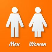 signs - male, female, wc