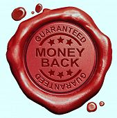 money back guaranteed red wax seal stamp 100% satisfaction customer service