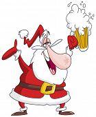 Drunk Santa Claus with beer