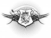 heraldic lion head coat of arms tattoo