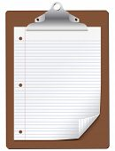 Vector Clipboard with Lined Paper