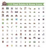 Set of the home related icons