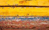 Old Multicoloured Painted Wood