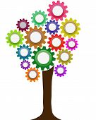 Abstract business tree made from gears