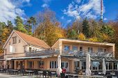 Raiway Station And Restaurant On The Top Of Mt. Uetliberg