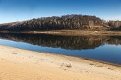sandy beach of the river
