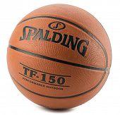Ankara, Turkey - August 17, 2014: Spalding basketball TF-150 isolated on white background.