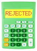 Calculator With Rejected On Display Isolated