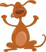 Happy Playful Standing Dog Cartoon