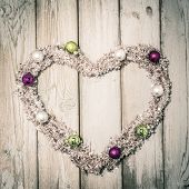 Christmas Heart - Rustic