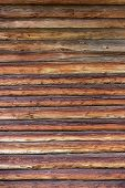 image of log fence  - Close - JPG