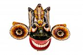 Isolated Gara Raksha Mask