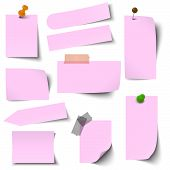 Collection Of Paper Notes Pink