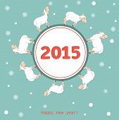 New year 2015 greeting card design - Illustration