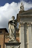 Urbino, Italy, September, 2014. The Statue Of St. Crescentin