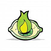 image of all seeing eye  - flaming eye symbol cartoon - JPG