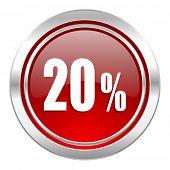 20 percent icon, sale sign