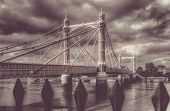 Chelsea Bridge retro