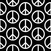 Peace Symbol Seamless Pattern