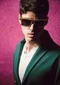 Fashionable Man Portrait With Flash Light