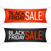 Black Friday Sale banner. Vector.