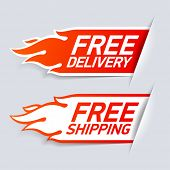 stock photo of ship  - Free Delivery and Shipping labels - JPG