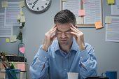 Office Worker With Headache