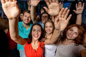 pic of waving hands  - party - JPG