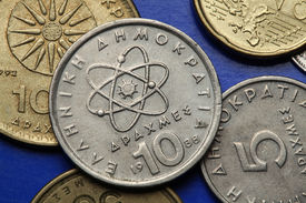 stock photo of neutron  - Coins of Greece - JPG