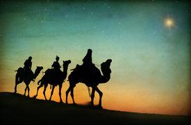 picture of desert christmas  - Three Kings Desert Star of Bethlehem Nativity Concept - JPG